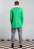 Green Long Sleeved Sports Top