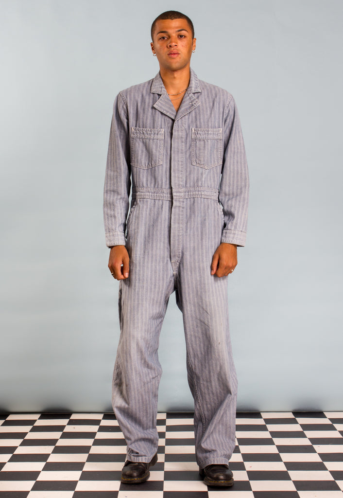 1950s/60s Cotton Herringbone Coveralls/ Boilersuit Workwear