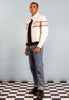 Vintage 'Hot Leathers' White Leather Motorcycle Jacket