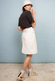 VINTAGE WHITE DENIM SKIRT