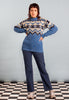 70's Vintage Norwegian Style Knitted Jumper