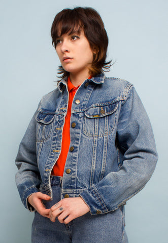 STRIPED DENIM WORKWEAR JACKET