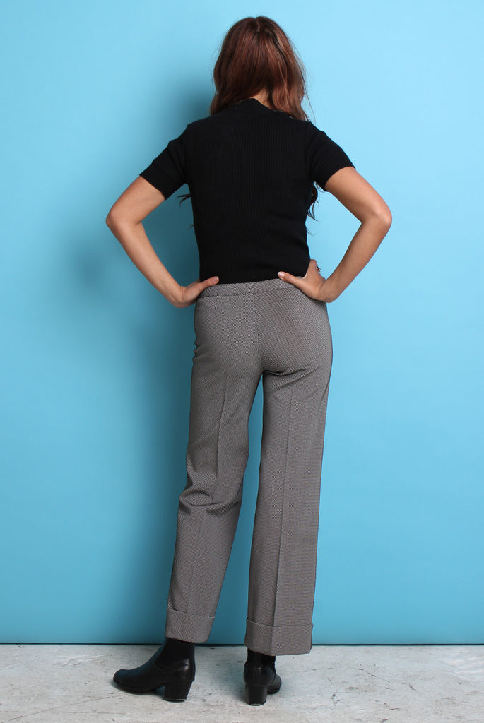 70s Vintage Low Rise Flared Trousers