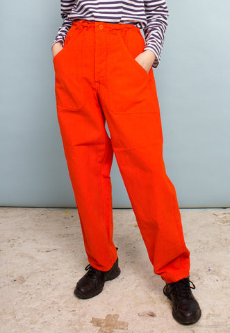Vintage Sailor Trouser in Bright Blue Overdye