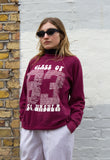 1980s Vintage Burgundy American Class Of/ Reunion Sweatshirt