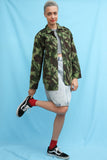 Vintage Camo Army Military Shirt Jacket
