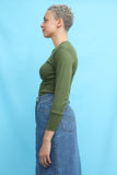 Vintage Khaki Green Army Military Top