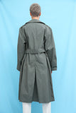 70s Vintage Charcoal Grey Trench Coat
