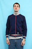 70s 80s Vintage Navy Stripe Track Top Sports Jacket