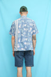 60s Vintage Blue Hawaiian Shirt
