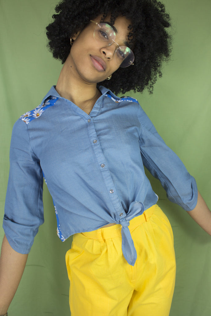 Daisy Cropped Shirt