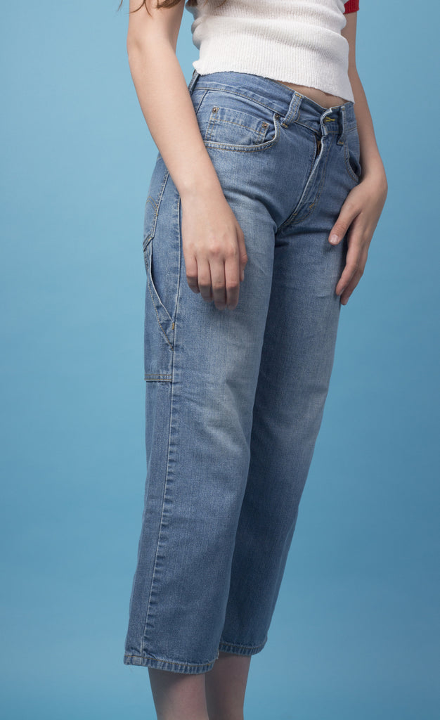 High Waisted Blue Jeans