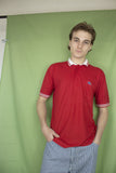 Vintage Red/White Lacoste Polo