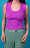 Purple Cropped Tank Knit