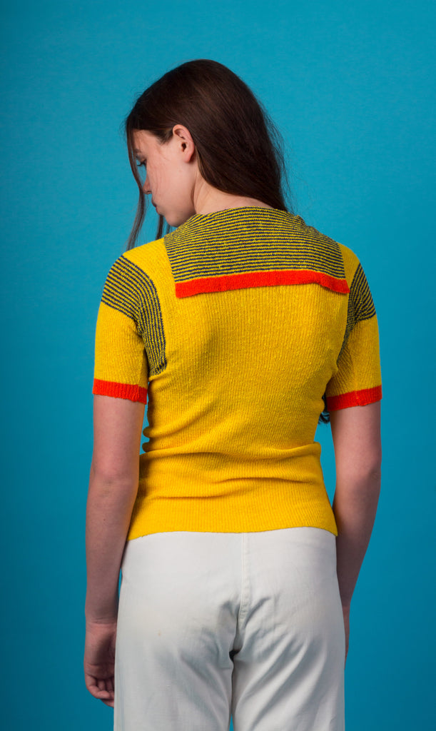 Yellow 70s Knit