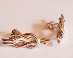 gold and silver reef knot