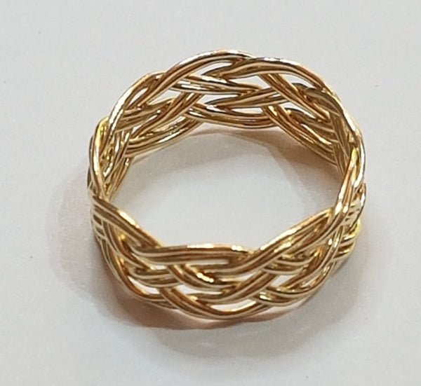 Turks Head Knot Ring, Gold - 2 strand