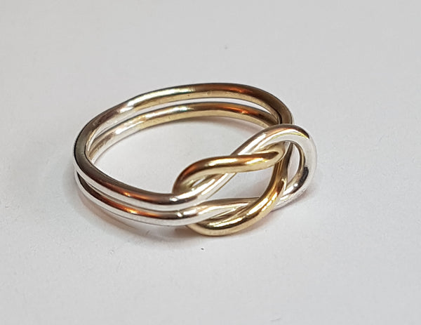 Reef Knot Ring - gold/silver