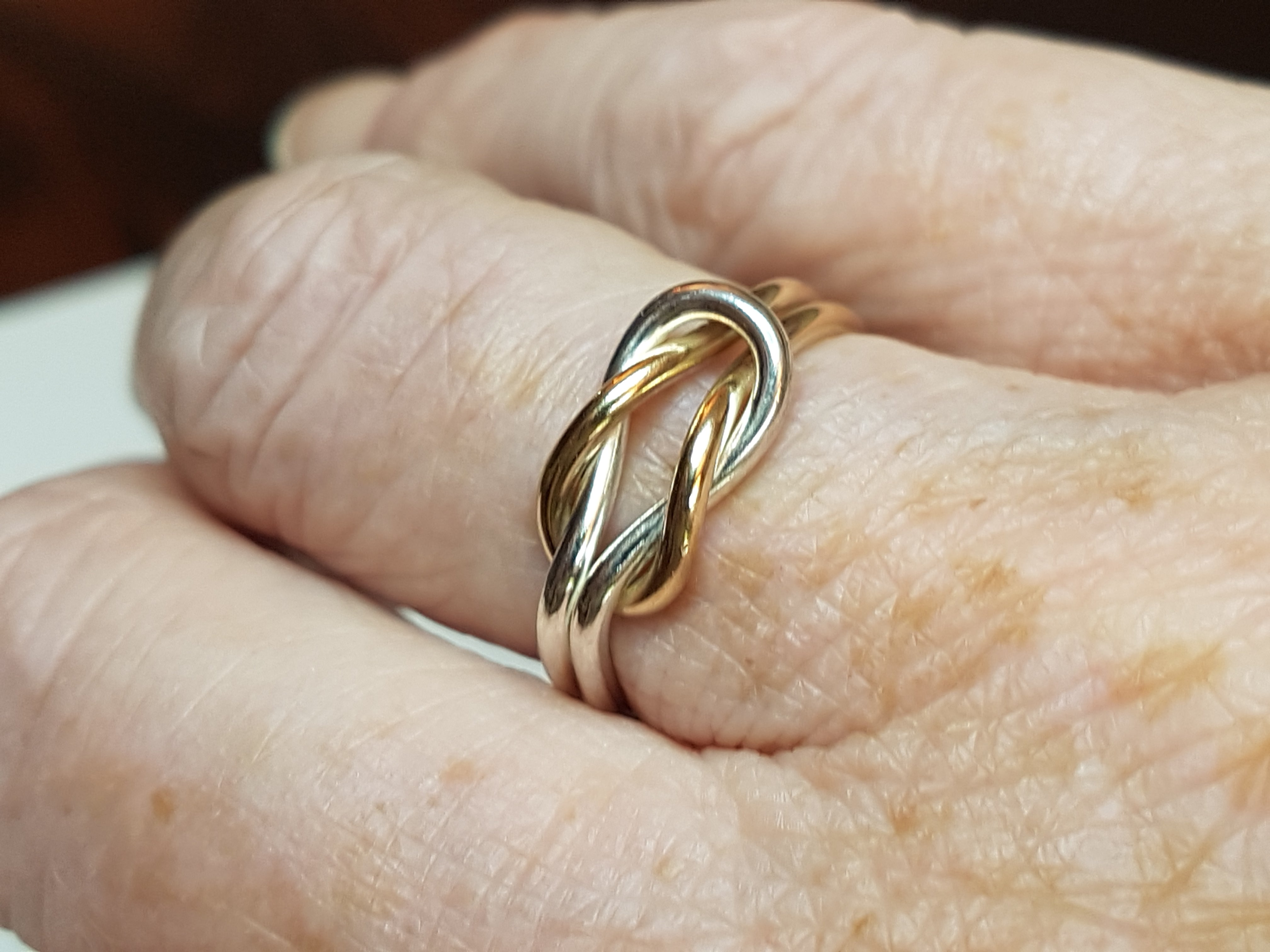 Gold/Silver Reef Knot Ring