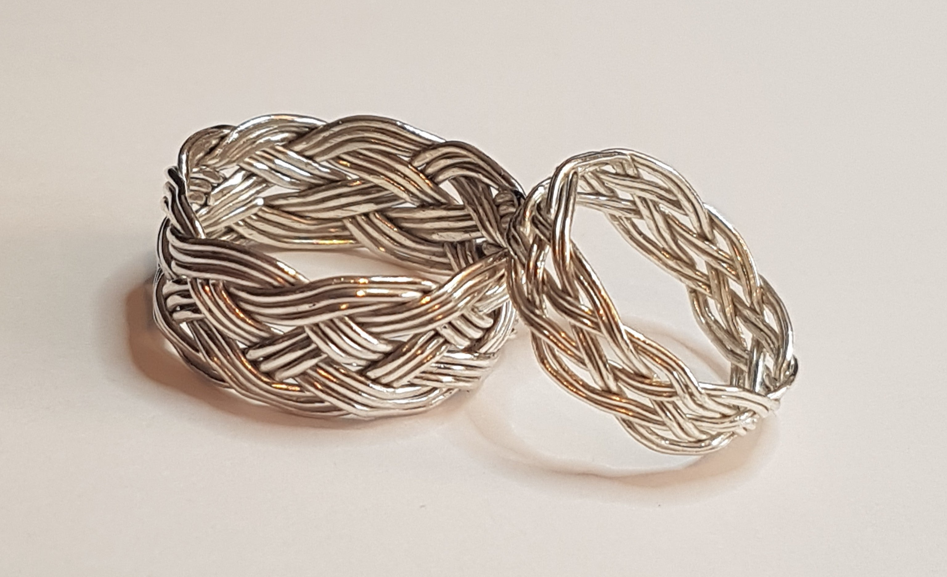silver rings, Turks Head - womens and mens