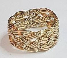 Turks Head Knot Ring, Gold - 3 strand