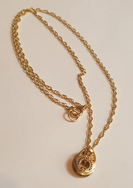 Gold T2 Harken Block Necklace