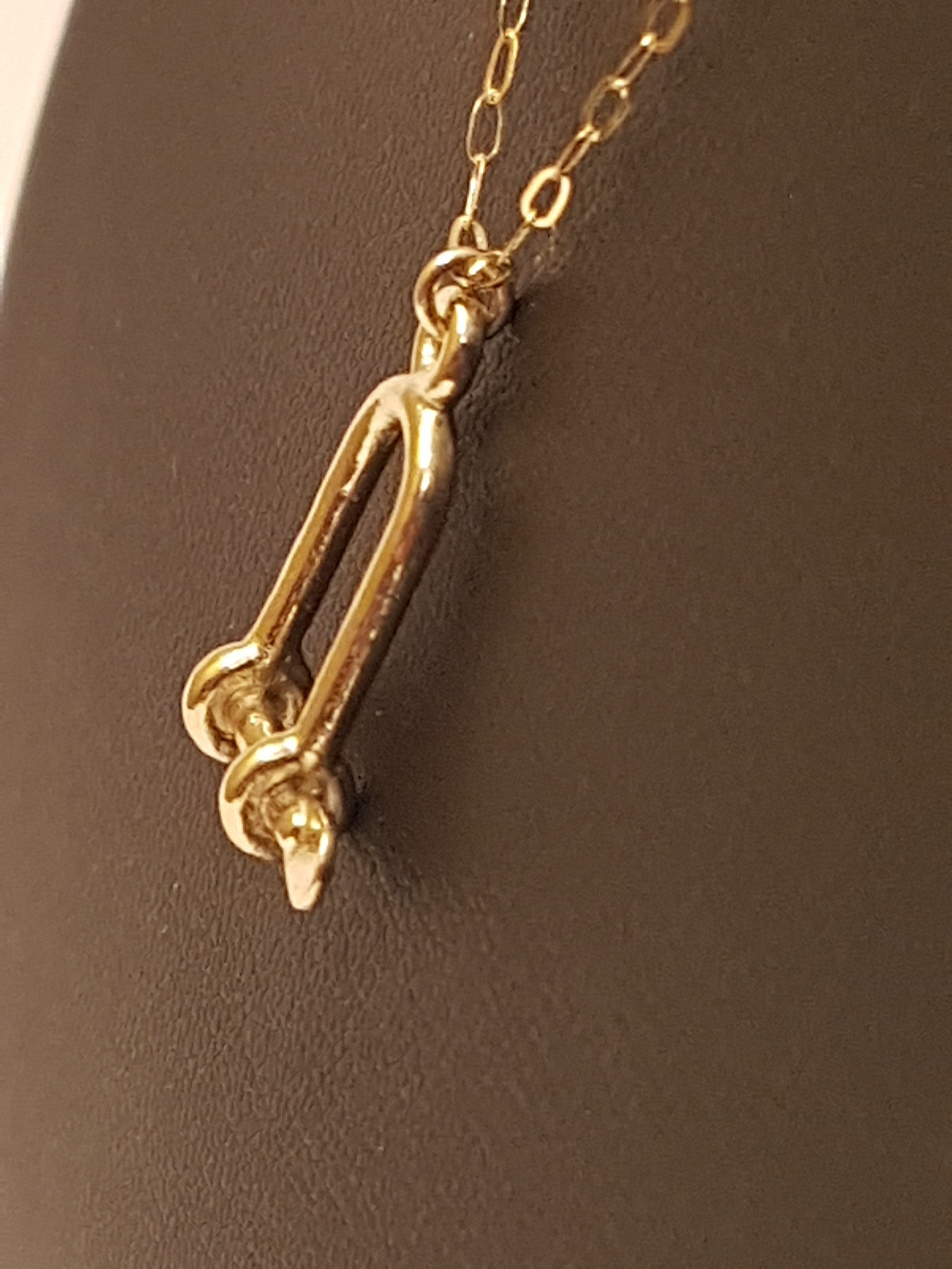 Gold Long Shackle Necklace