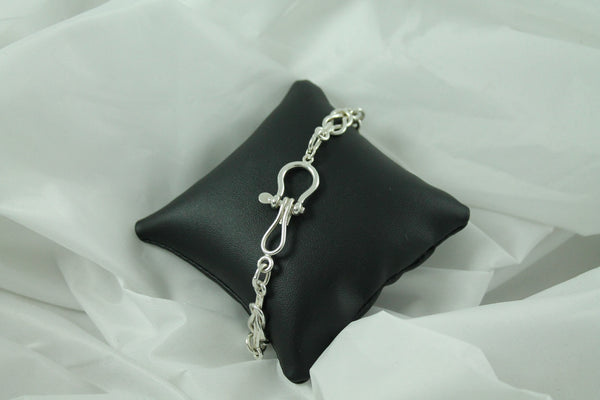 Reef Knot Bracelet with Shackle clasp