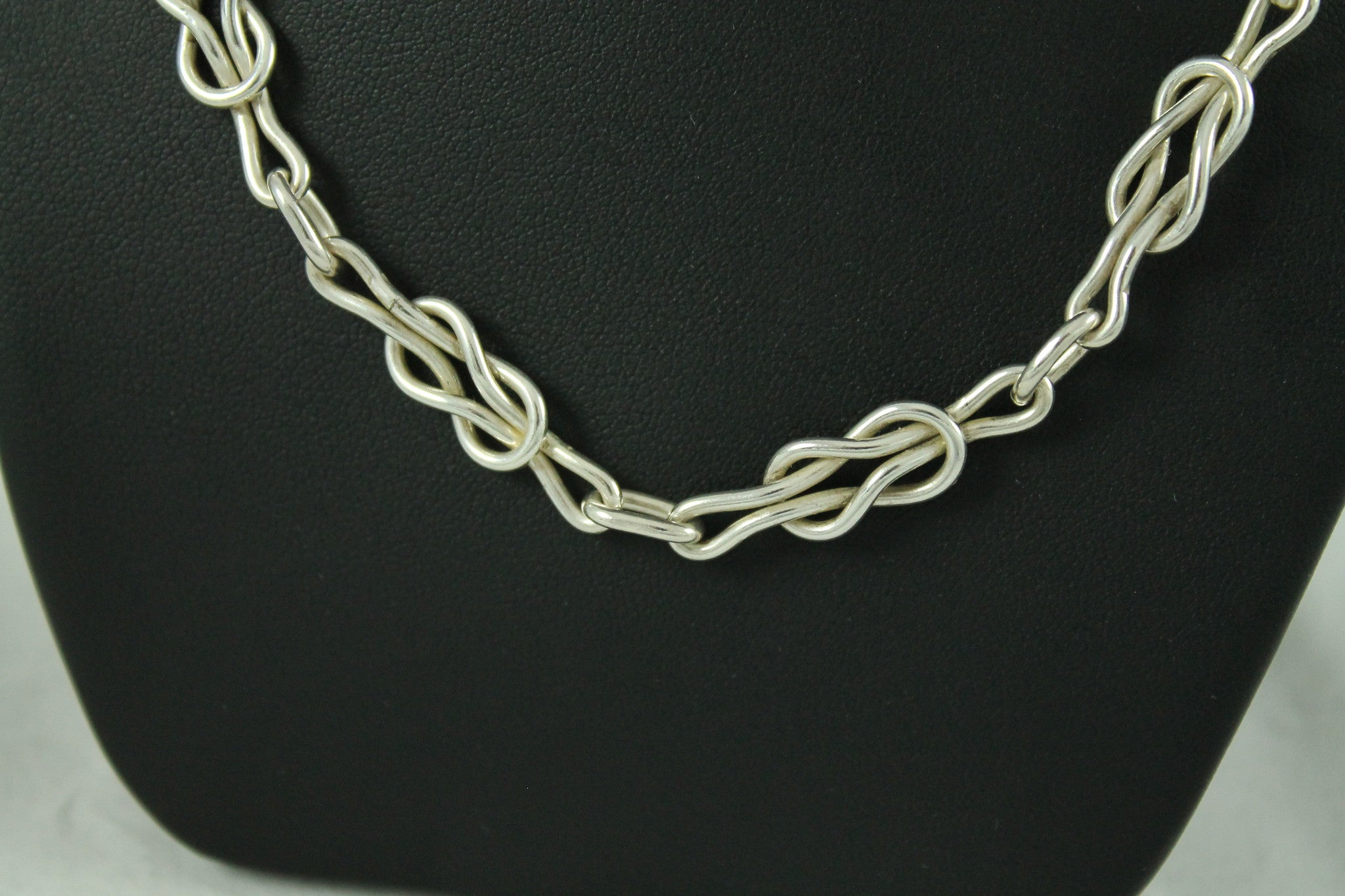 Silver Reef Knot Chain