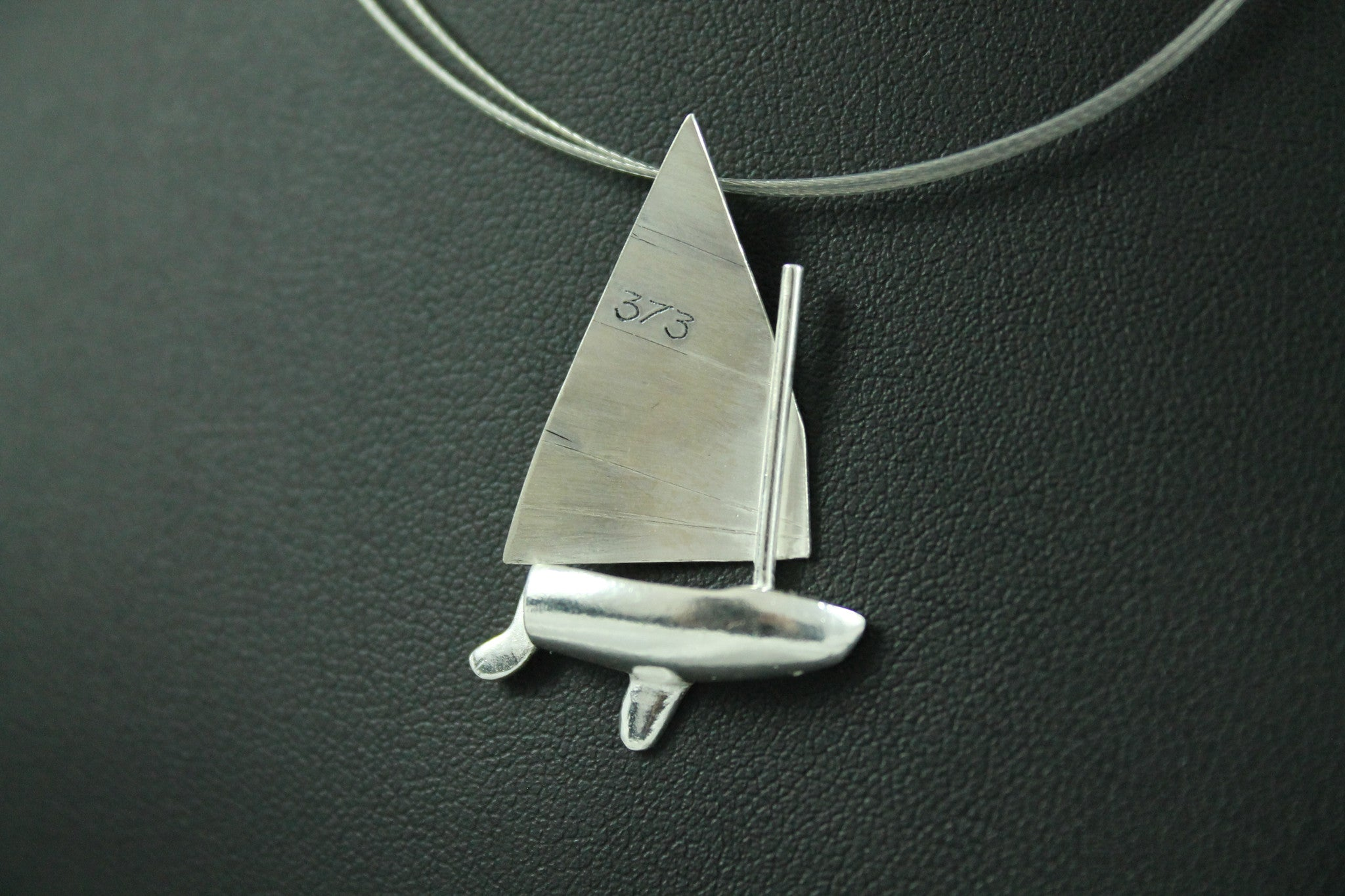 Silver LR Scow - Necklace