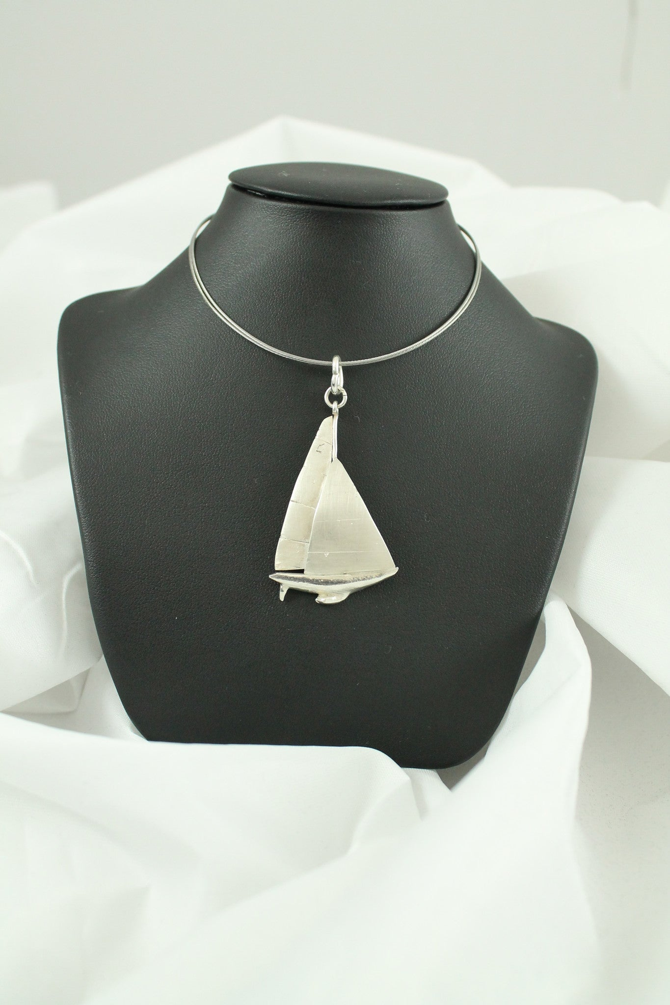 Silver Yacht Necklace