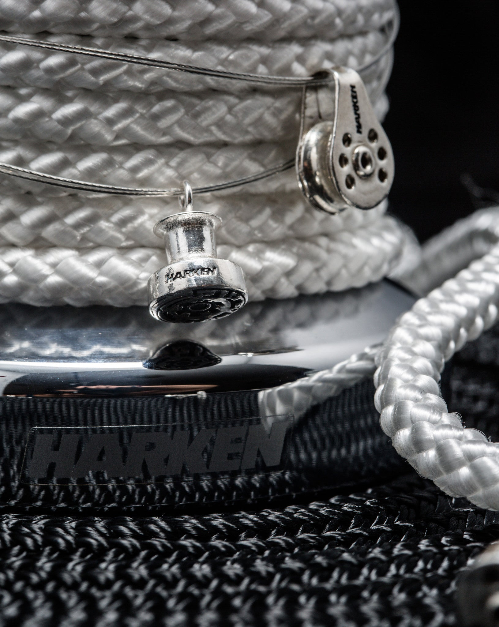 Harken Silver Winch Necklace