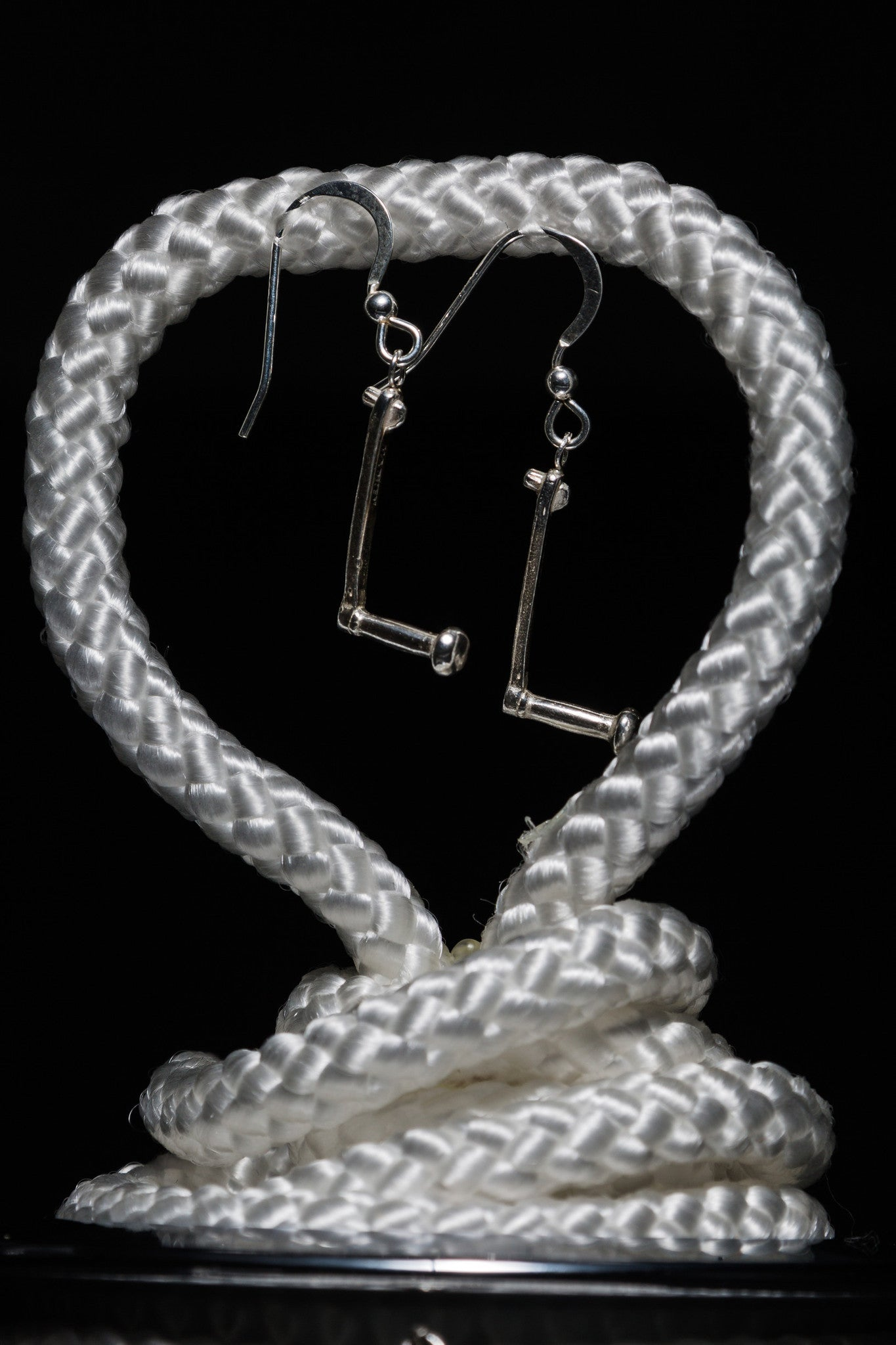 Harken Silver Winch Handle Earrings