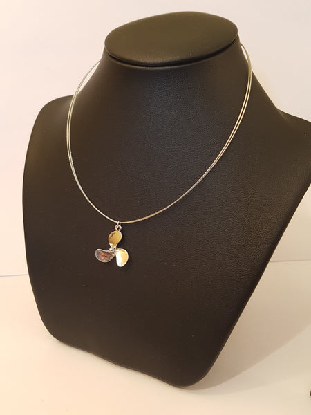 Silver Propeller Necklace