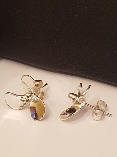 Propeller Earrings - studs