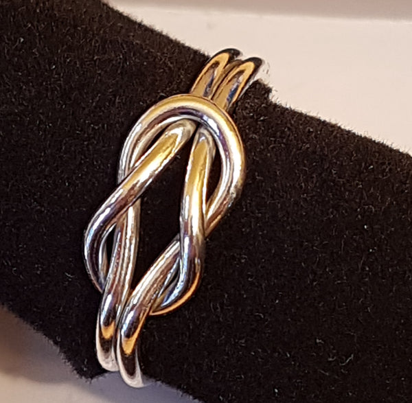 Reef Knot Silver Ring