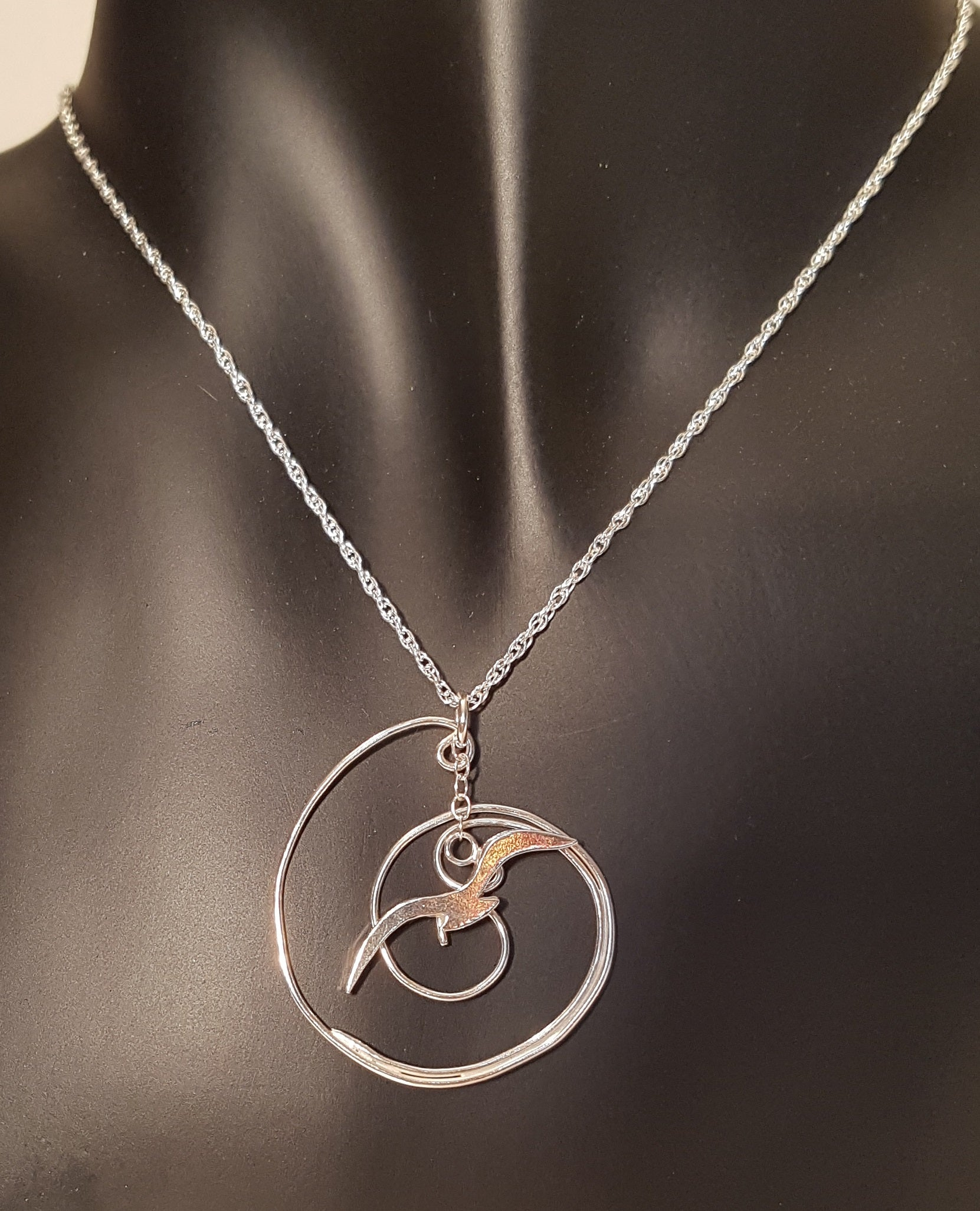 Seagull over Wave Pendant