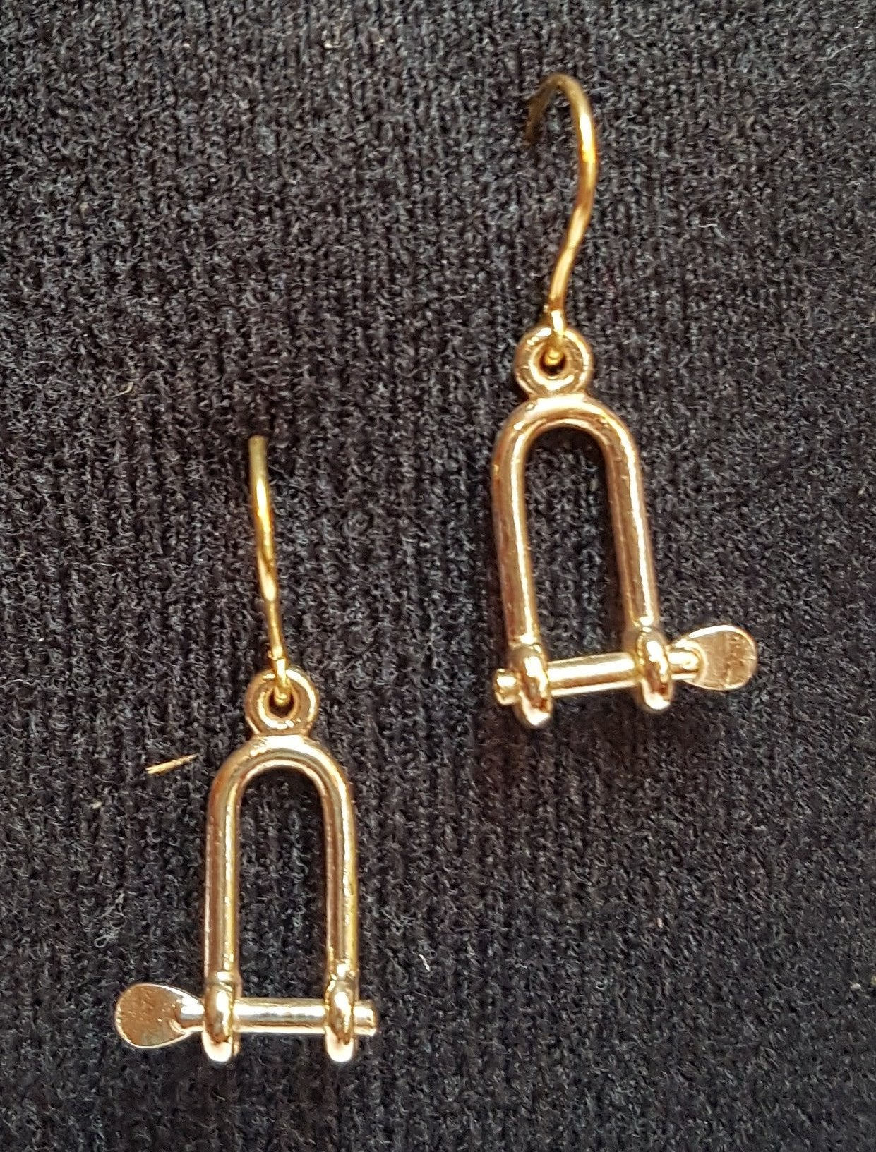 Gold Long Shackle Earrings
