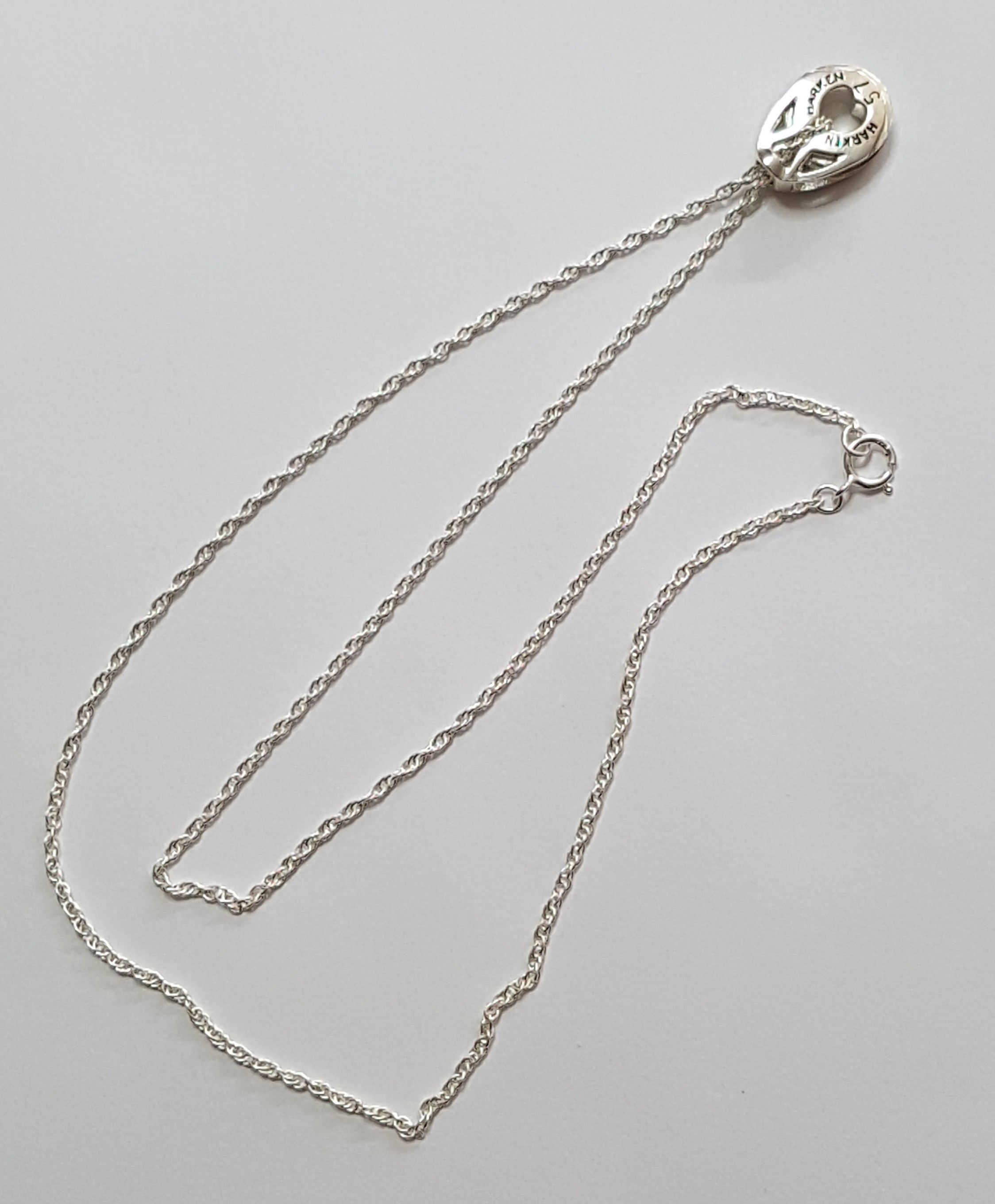 Silver Harken T2 Block Necklace