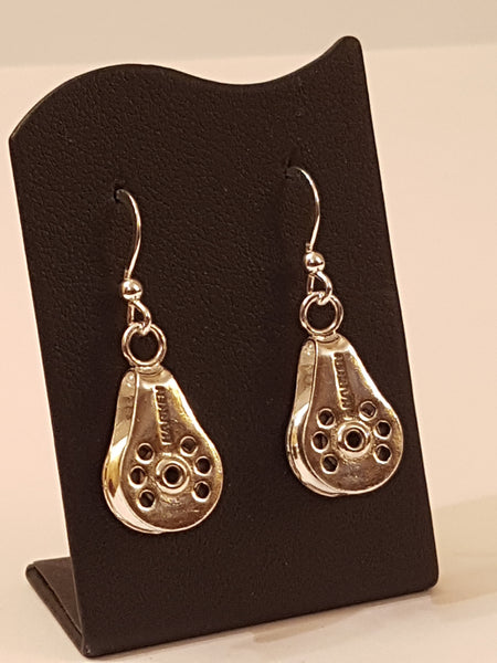 Silver Classic Harken Block Earrings