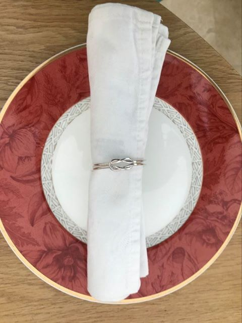 Silver Reef Knot Napkin Rings