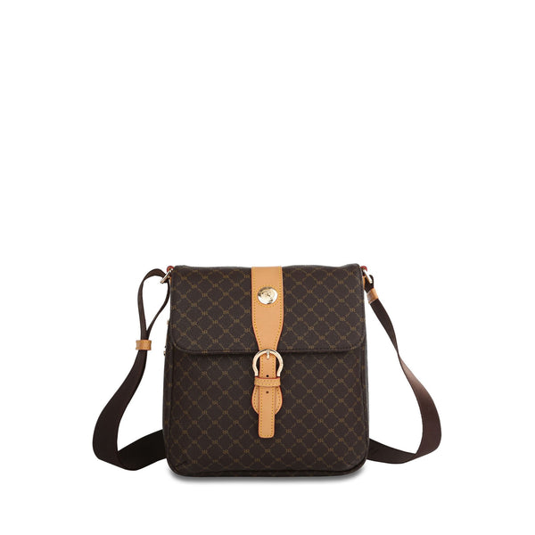 Top Buckle Messenger Bag - Miley in Brown