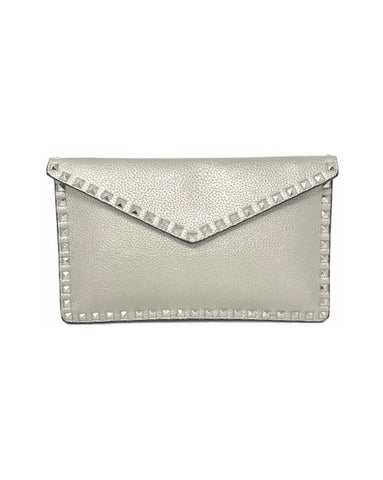 Small Studded Envelope Clutch
