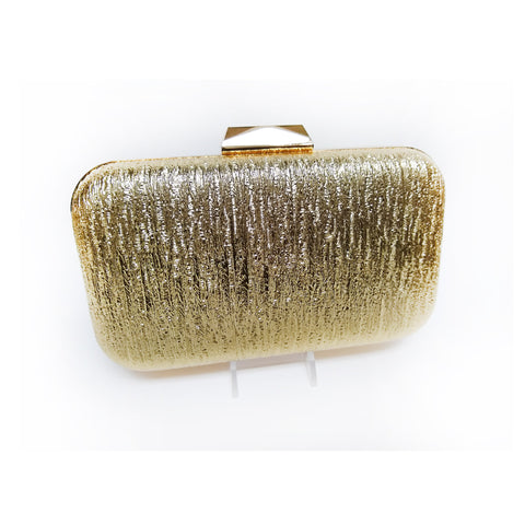 Gold Embossed Leather Clutch