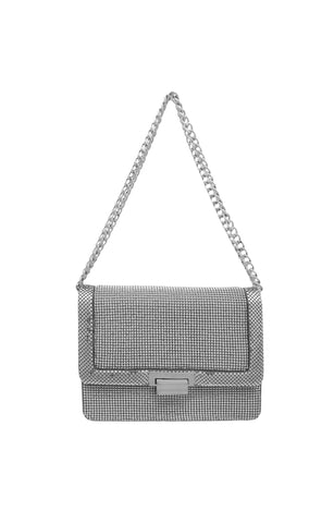 MILANO PYRAMID CLUTCH - Pewter