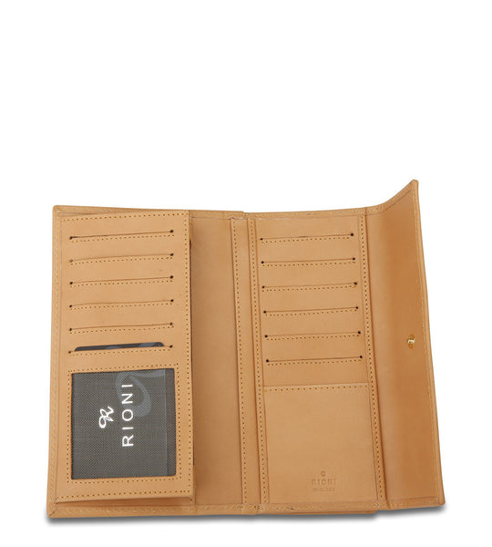 Continental Clasp Wallet in Brown