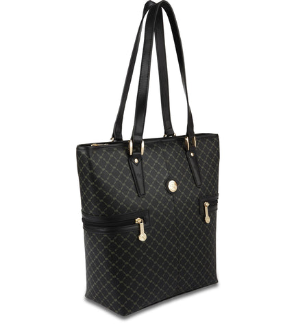 Tall Tote Shopper - Estate in Black
