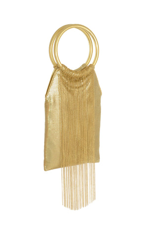 Whiting and Davis Gold Chain Ivory Mesh Bracelet Bag - 3 Colors