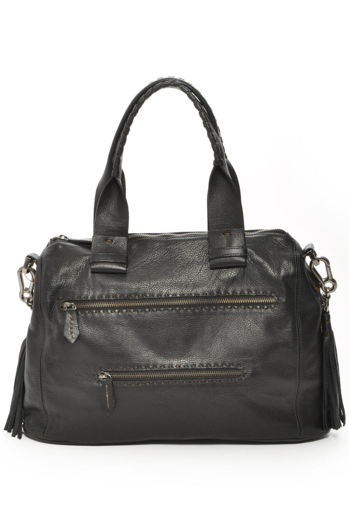 Joel - Black Leather Shoulder Bag