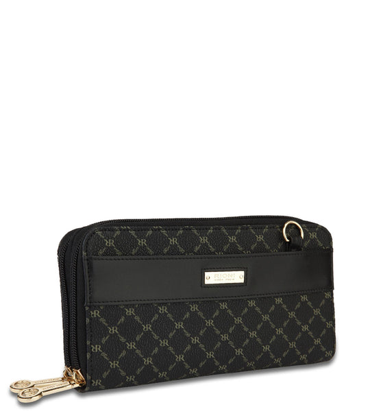 Dual Zip Wallet Organizer - Lorelai in Black